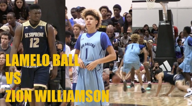 AAU High School Basketball | LaMelo Ball Vs. Zion Williamson Highlights #W2TM