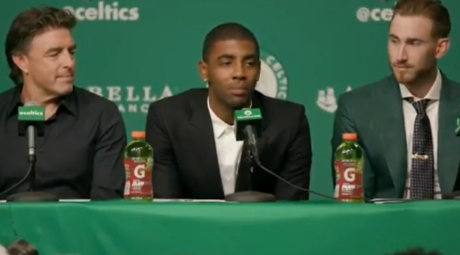 NBA | Kyrie Irving Intoductory Press Conference With The Celtics #W2TM
