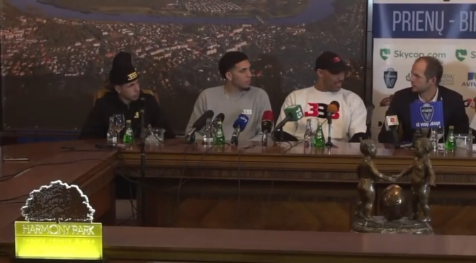 Sports | Lamelo, Liangelo & Lavar Ball Receive Prienu Vyautas Jerseys In Lithuania #W2TM