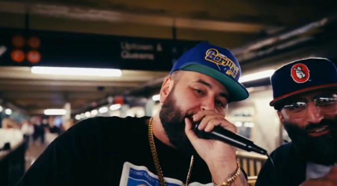 """The Mayor Of Coney Island @NEMS_FYL & Producer @therealjazzsoon  Perform """"GAHBAGE"""" Live On West 4th Subway In NYC #GorillaMonsoon Drops At Midnight #W2TM"""